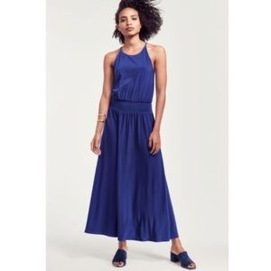 NWOT Vince Camino stretch blue maxi dress size 8